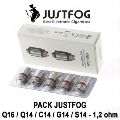 Résistances - Justfog - pack de 5